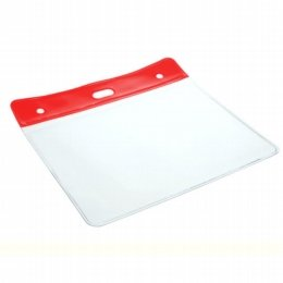 coloured top pvc name tag red