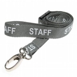 grey staff lanyard with lobster clip