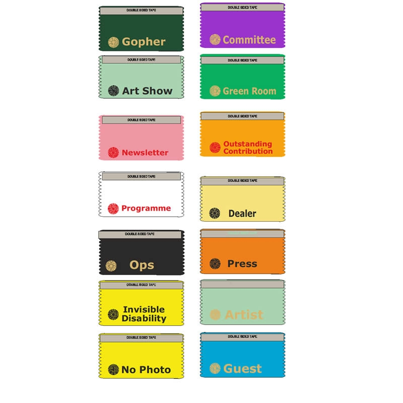 conference badge ribbons horizontal