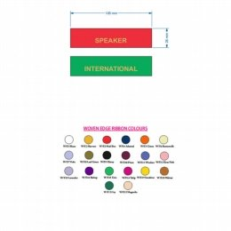 woven edge conference ribbons colour chart