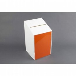 ballot box with lock in white