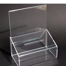 collection box with a5 poster holder