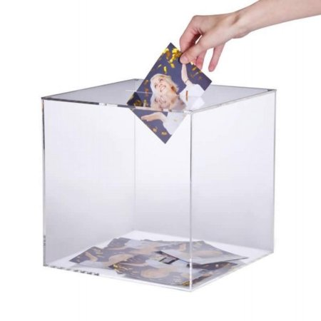 square lockable suggestion box 300 x 300mm