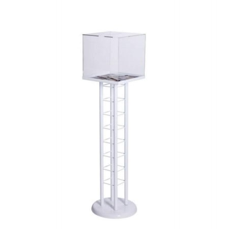 acrylic comment suggestion box freestanding