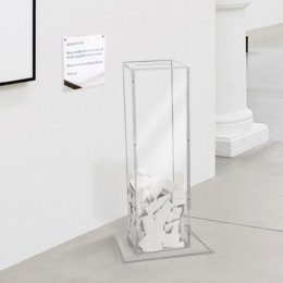 clear acrylic floorstanding survey box