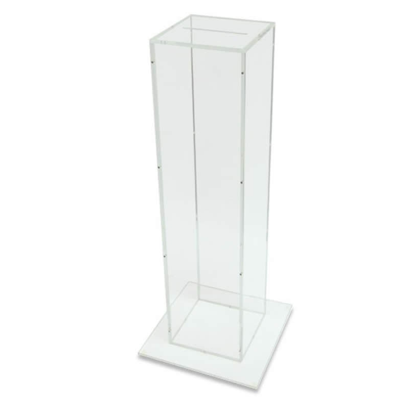 floor standing clear acrylic ballot suggestion box