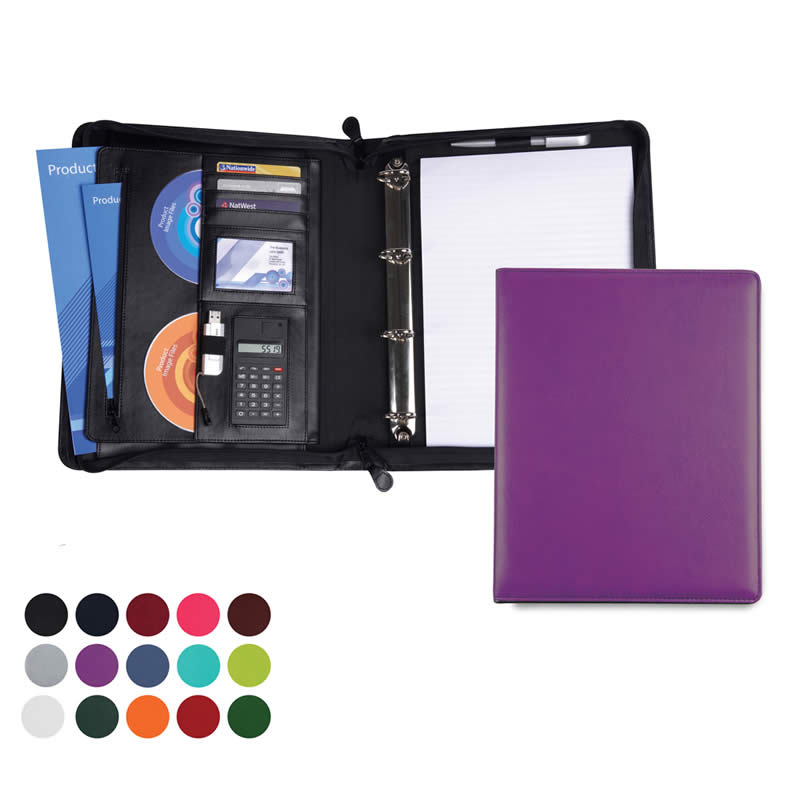 A4 Deluxe Zipped Ring Binder