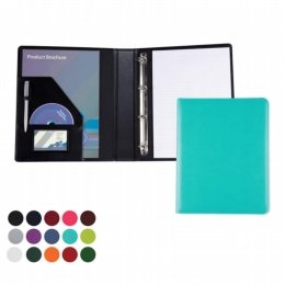 immitation leather a4 folder with ring binder turquoise
