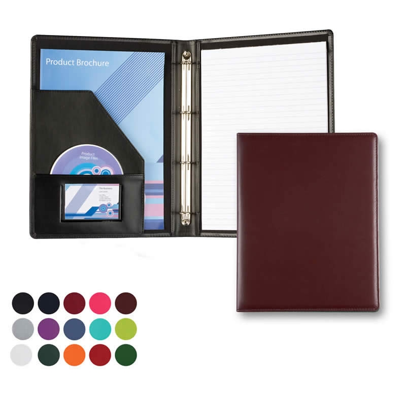immitation leather a4 folder with ring binder