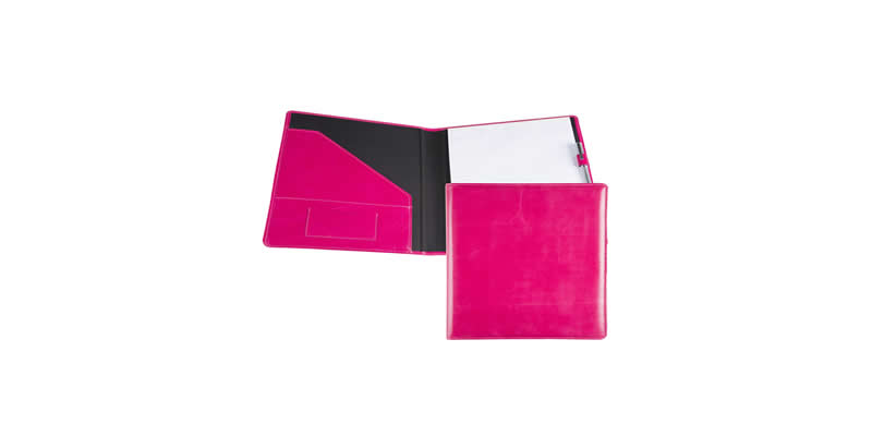 coloured pu folder pink small image