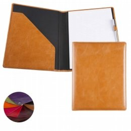 coloured leather a4 conference folder
