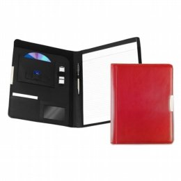 leather a4 pad holder red