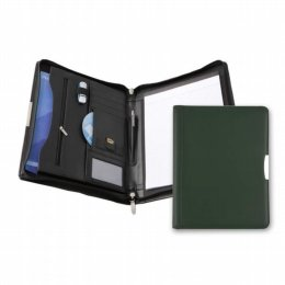 leather conference a4 pad holders dark green