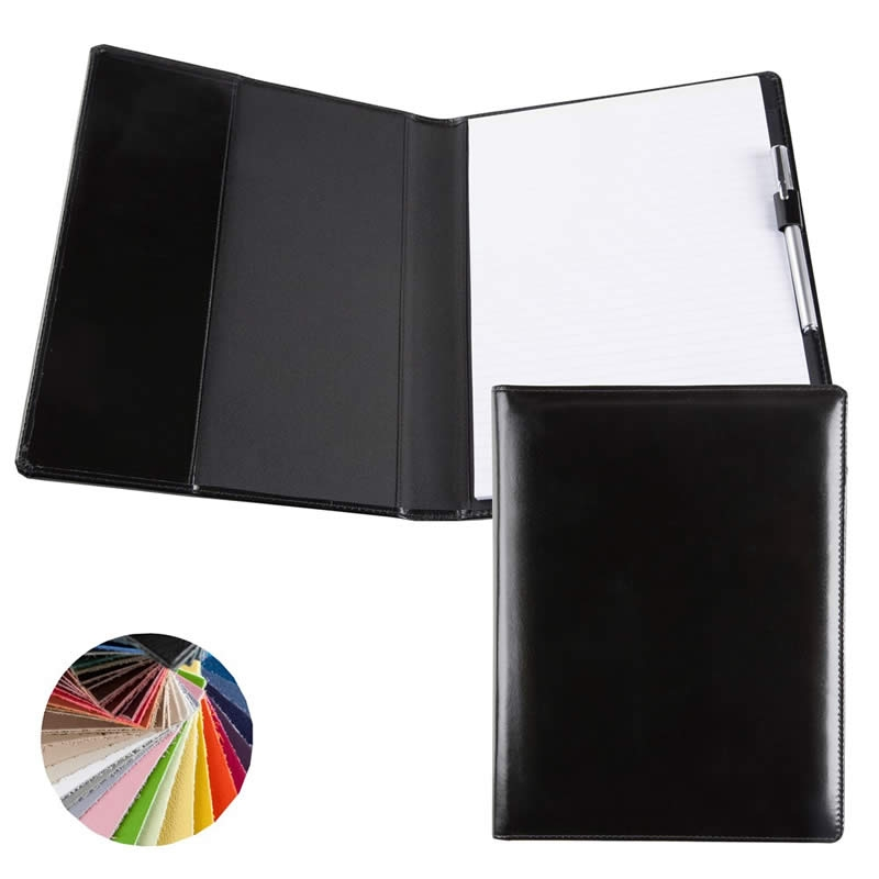 leather folder assorted colours