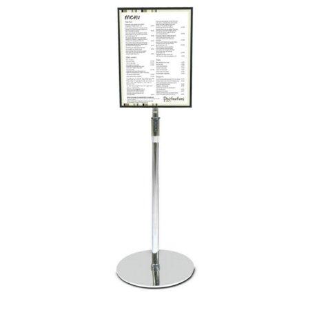 floor standing acrylic sign holder a4 or a3 card frame. Black Bedroom Furniture Sets. Home Design Ideas