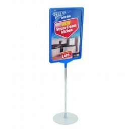 showcard sign stand round base