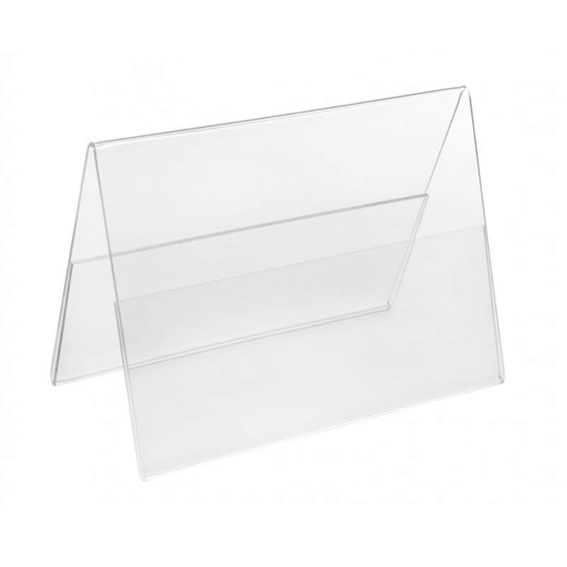 pvc tent shape card holder display names on tables