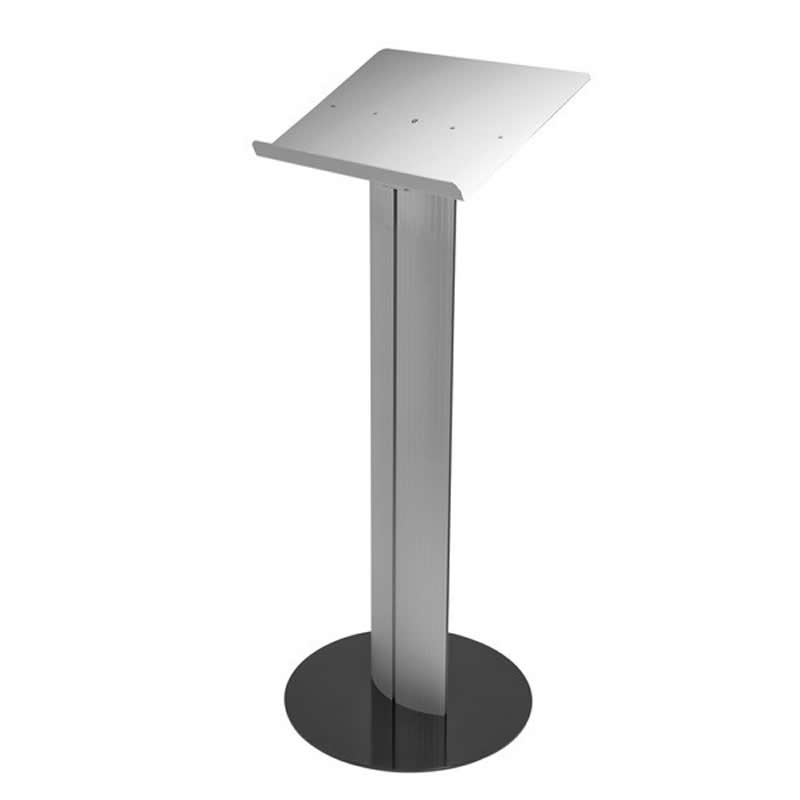 floor standing metal lectern with black base