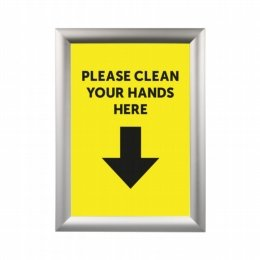 please clean hands here